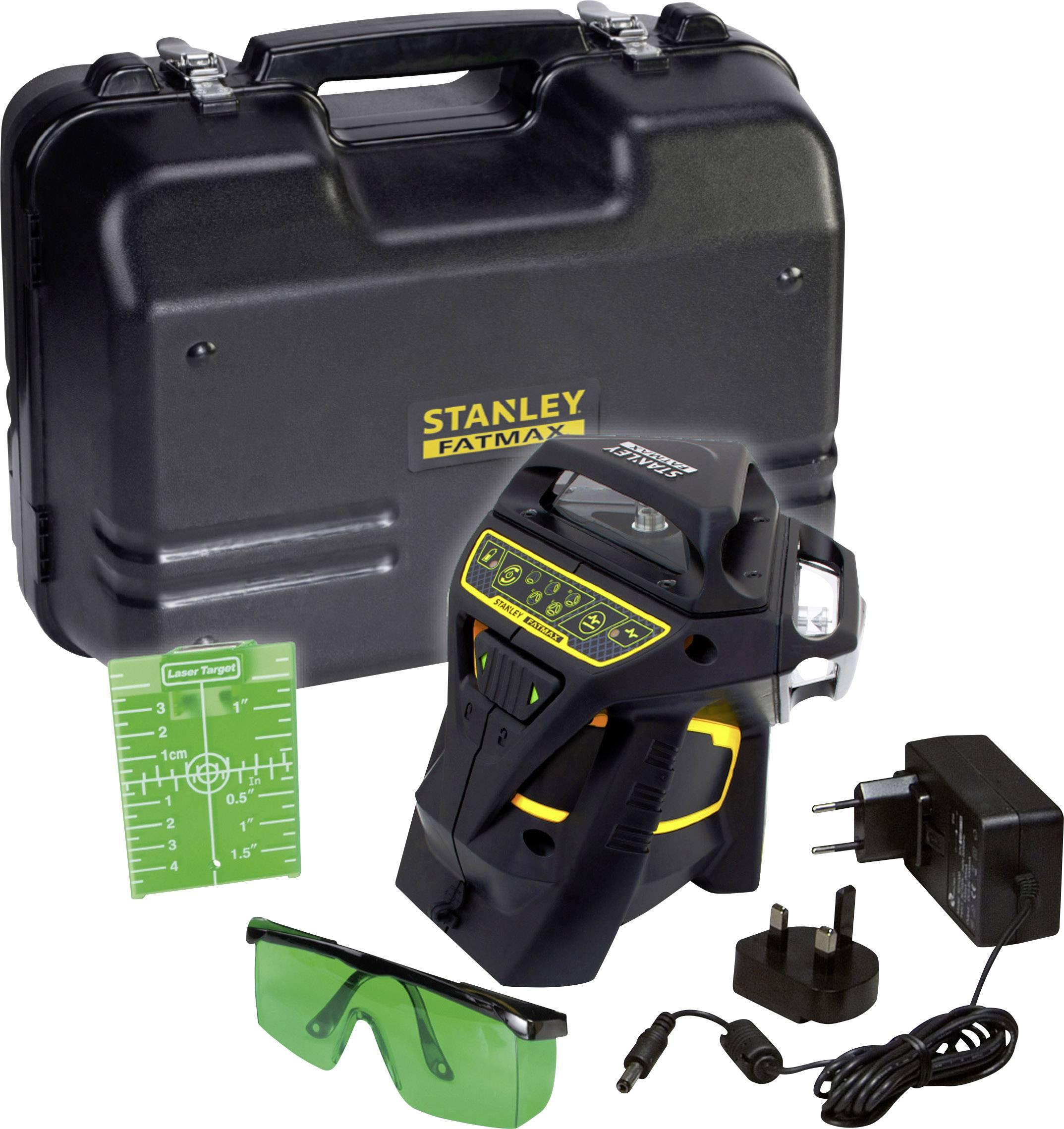 Křížová laserová vodováha Stanley by Black & Decker FatMax X3G, Kalibrováno dle: vlastní
