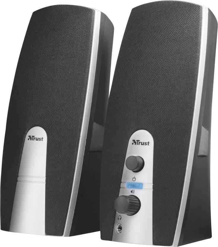 PC reproduktory Trust MiLa, káblový, 5 W, čierna, strieborná