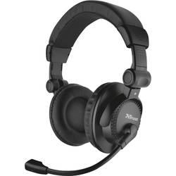 Headset k PC jack 3,5 mm na kabel Trust Como přes uši černá