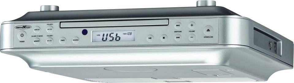 FM závěsné Reflexion CLR2910, AUX, USB, stříbrná