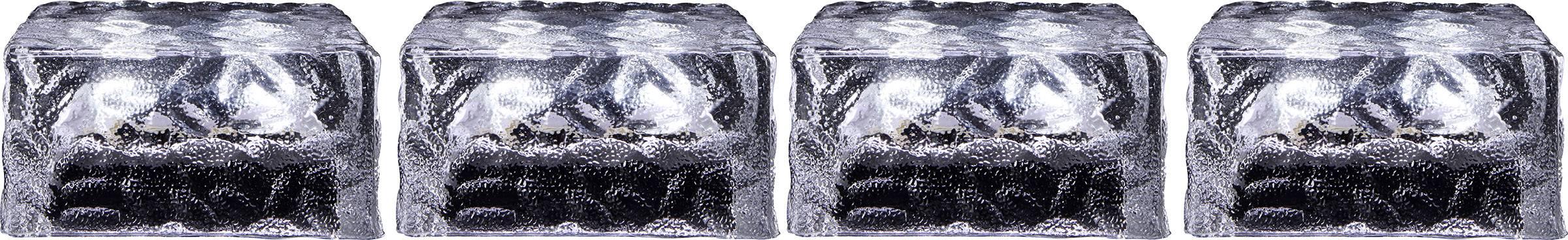LED solární dekorativní osvětlení kostka ledu Polarlite 0.16 W, IP44, studená bílá