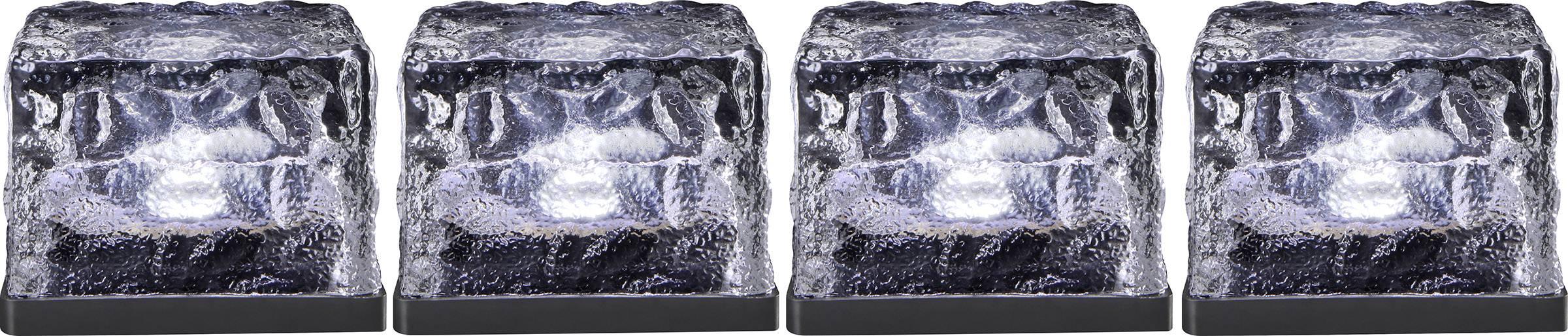 LED solární dekorativní osvětlení kostka ledu Polarlite 0.08 W, IP44, studená bílá