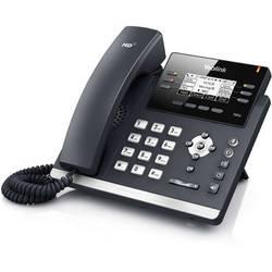 Šňůrový telefon, VoIP Yealink SIP-T42S handsfree, konektor na sluchátka podsvícený displej černá