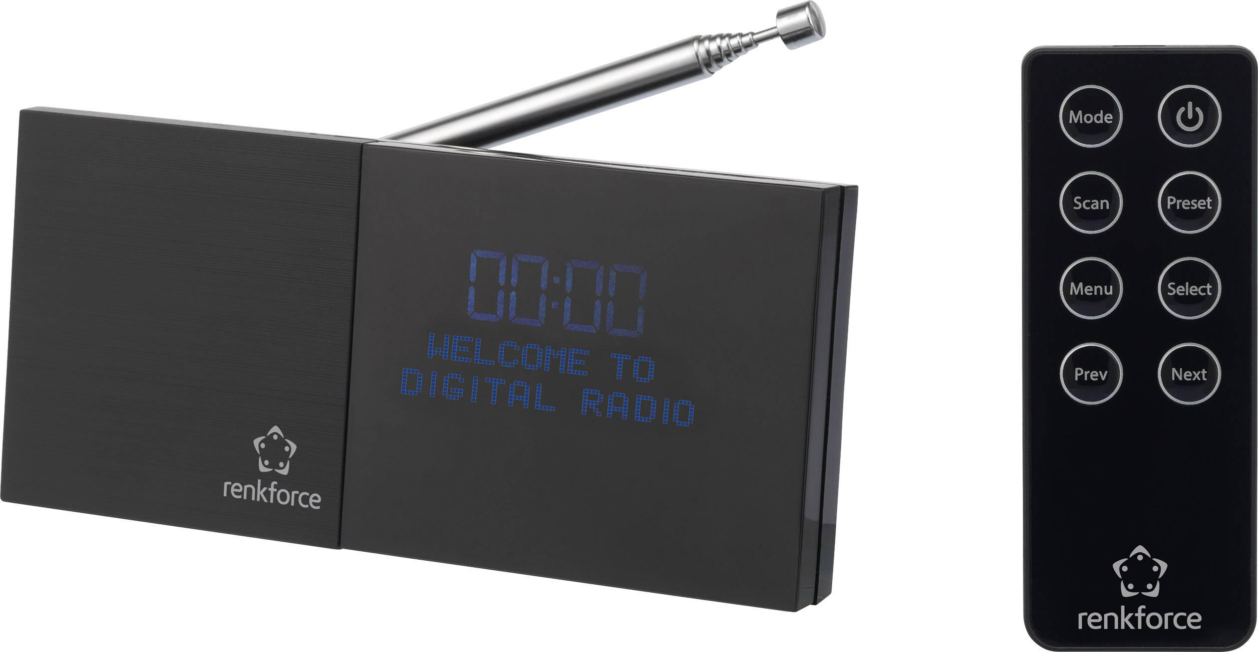 DAB+ rádio s výstupem bez reproduktoru Renkforce RF-DAB-AP, DAB+, FM, černá