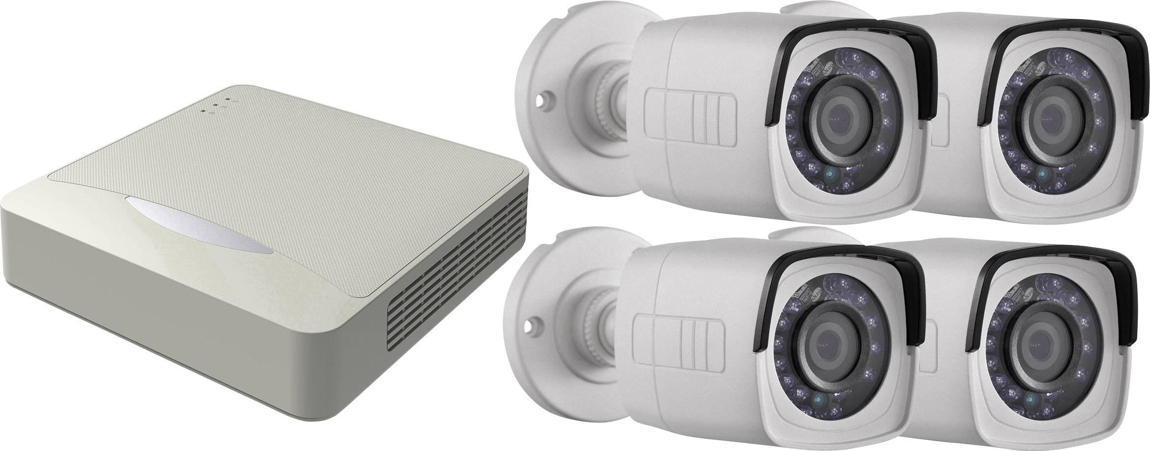 Sada bezpečnostnej kamery HiWatch DS-H104Q + DS-T200 4-kanálový