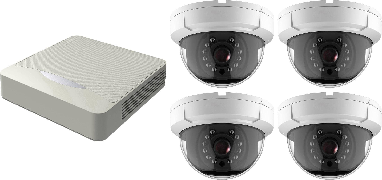 Sada bezpečnostnej kamery HiWatch DS-H104Q + DS-T201 4-kanálový
