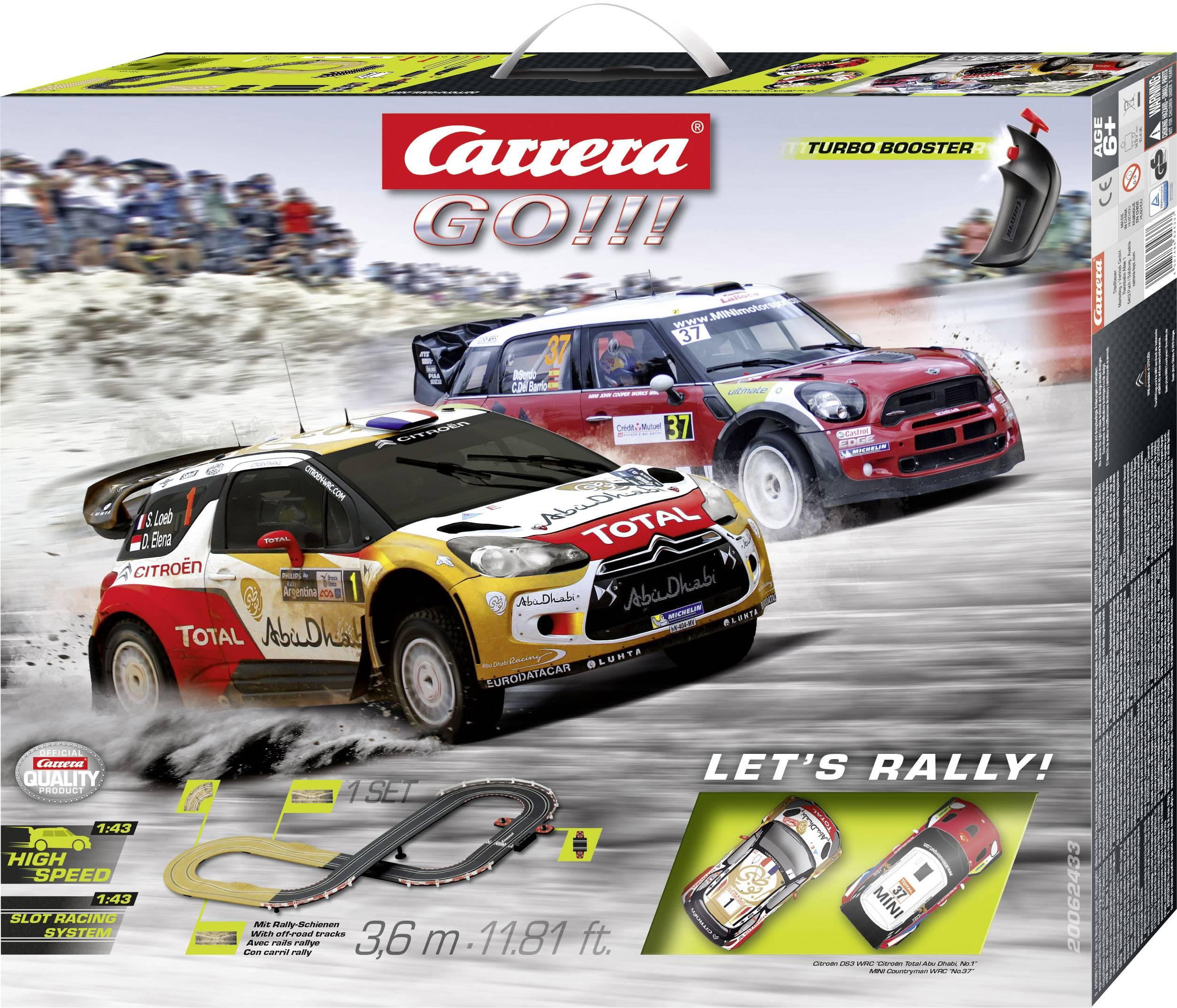 Autodráha, štartovacia sada Carrera Let's Rally 20062433, druh autodráhy GO!!!