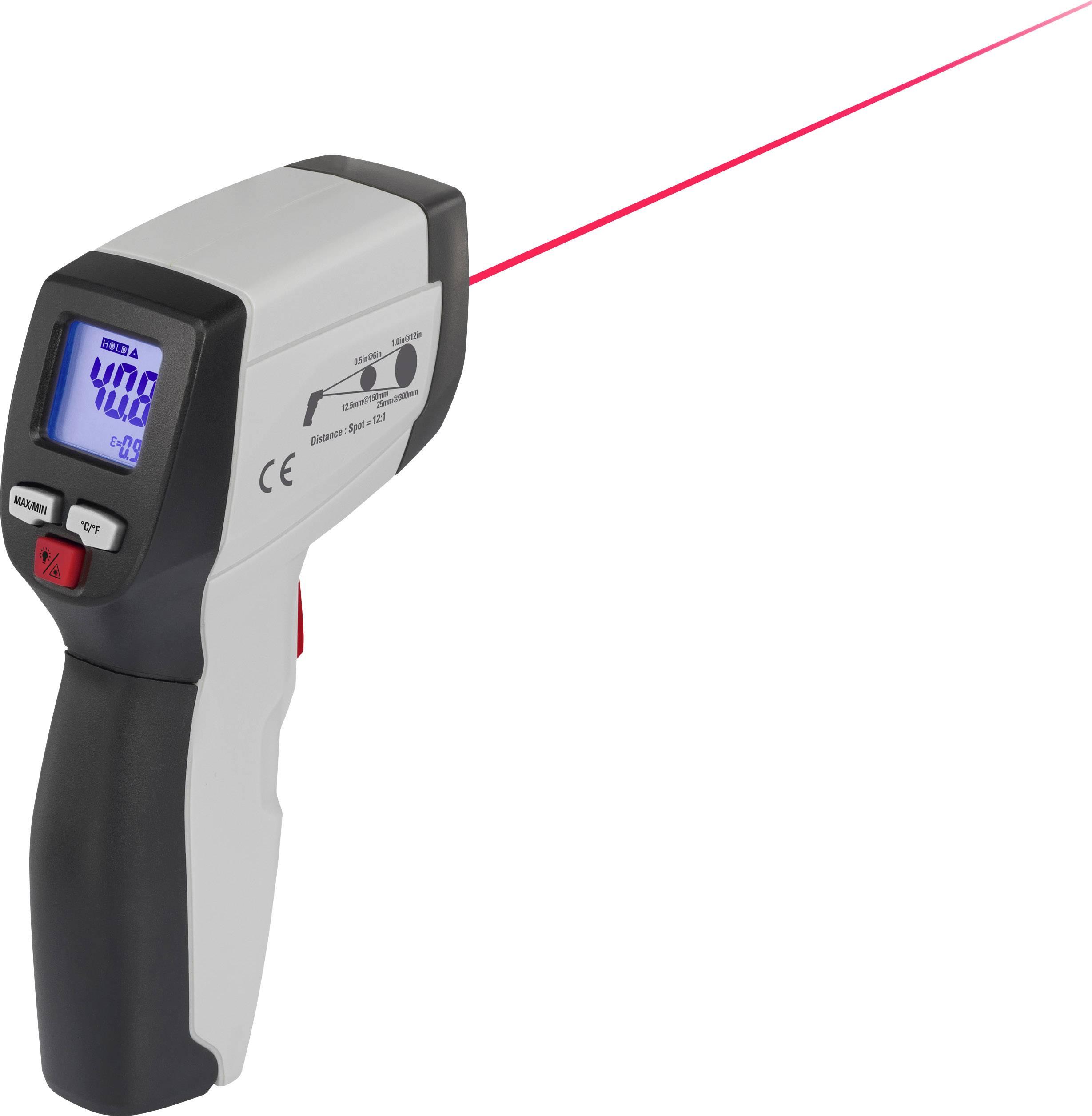 Infračervený teploměr VOLTCRAFT IR 500-12S, Optika 12:1, -50 až 500 °C, pyrometr