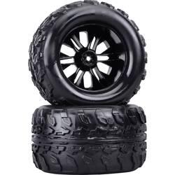 Kompletné kolesá Reely 1600279 pre monster truck, 125 mm, 1:10, 2 ks, čierna