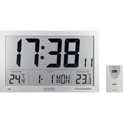 DCF nástenné hodiny Eurochron EFWU Jumbo 102, strieborná