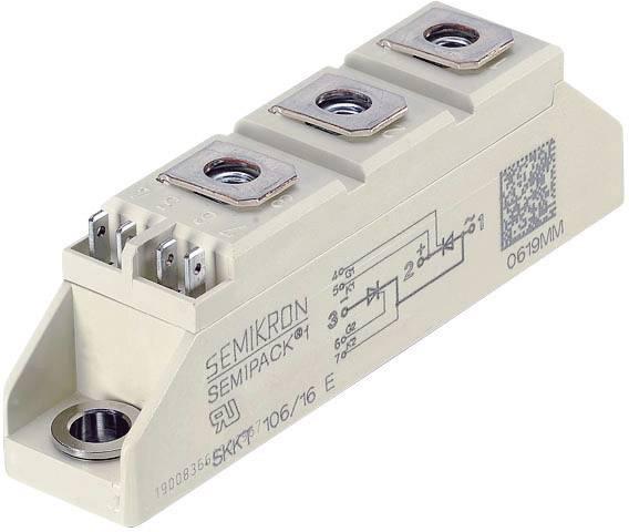 Tyristor Semikron 07897331, 1200 V, 55 A, Semipack 1