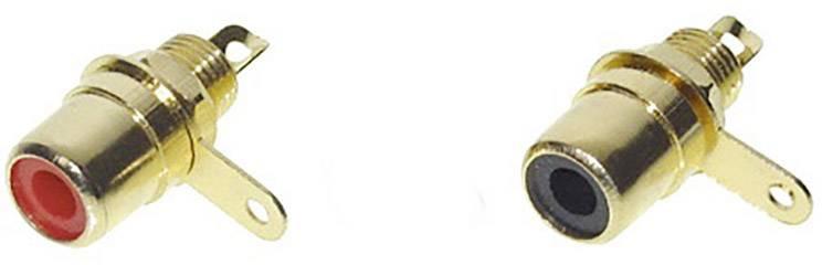 Cinch konektor TRU COMPONENTS 1601055 - čiernobiela, pólů 2, 2 ks