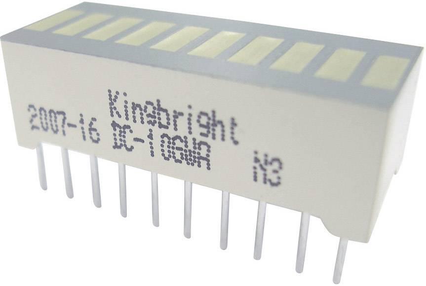 LEDbargraf Kingbright DC-10YWA (š x v x h) 25.4 x 10.16 x 8 mm, žltá