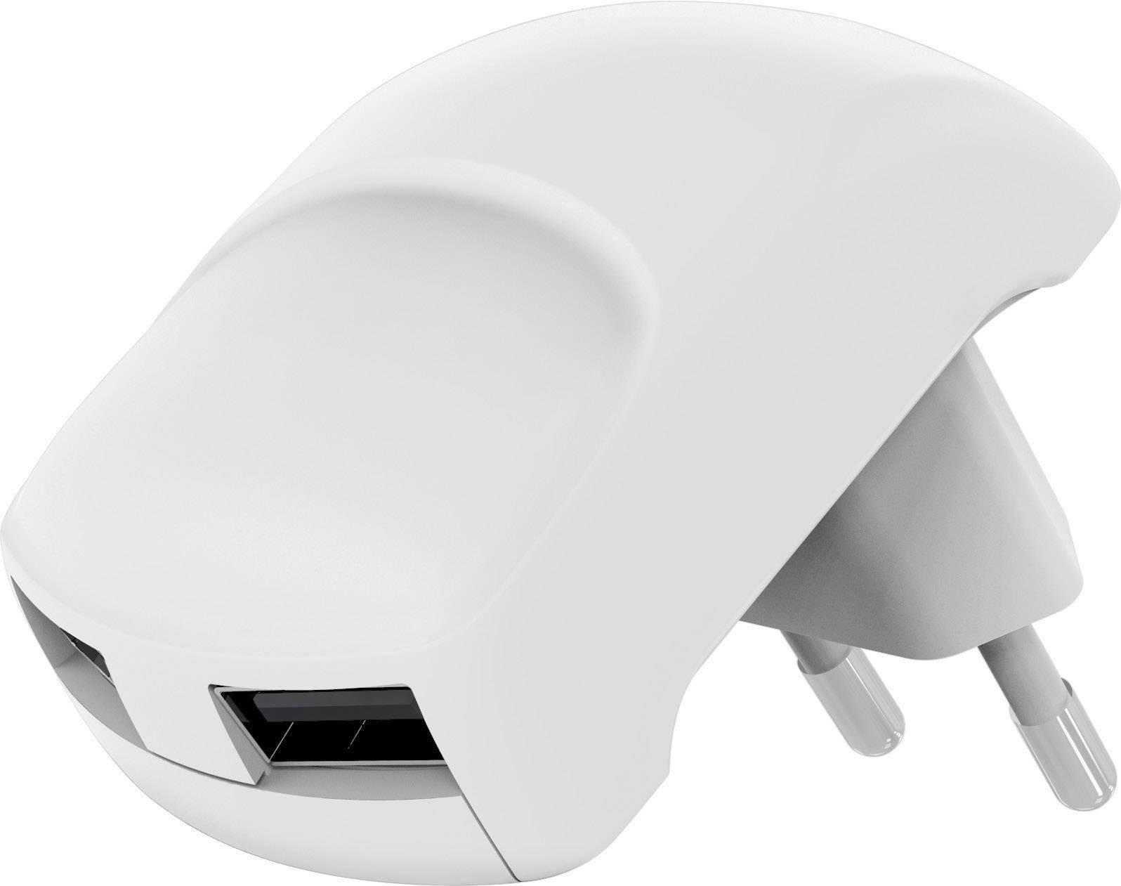 USB nabíjačka Goobay 59234, 2400 mA, biela