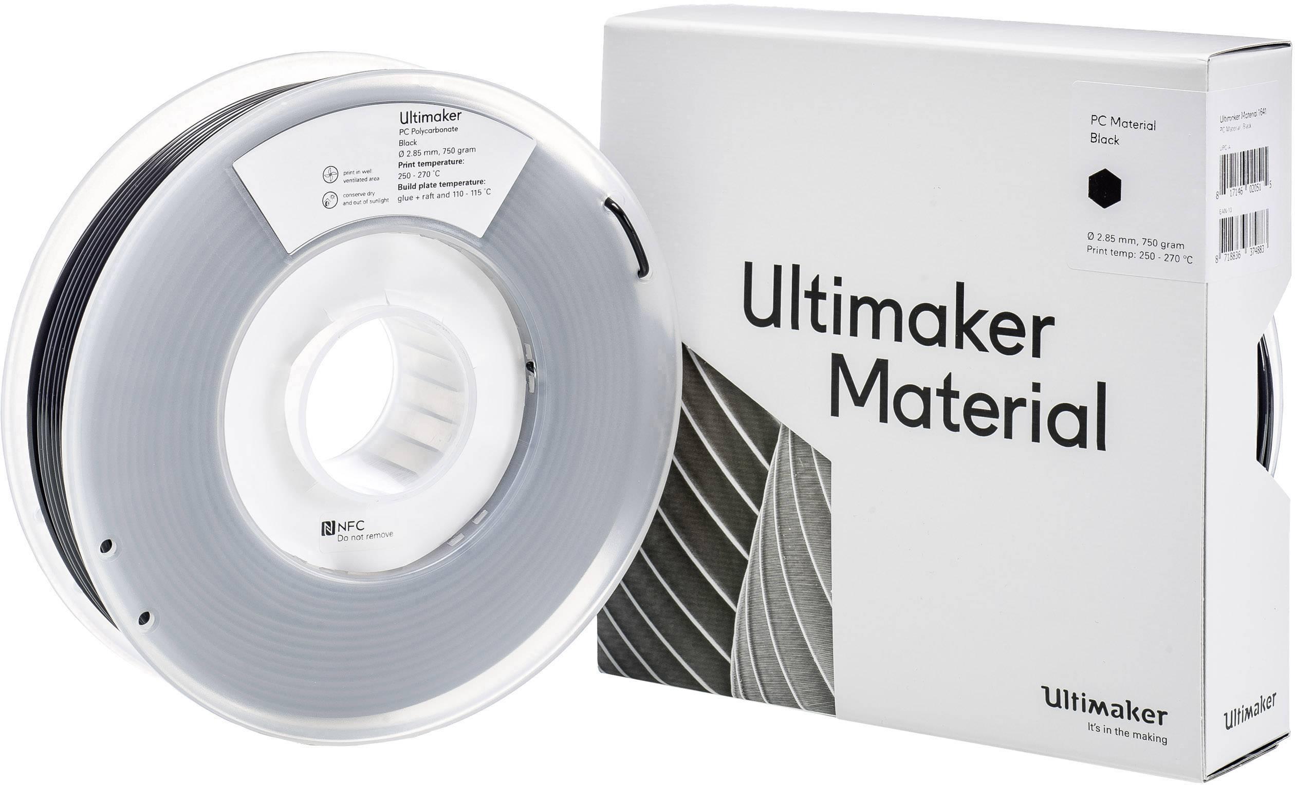 Vlákno pro 3D tiskárny Ultimaker PC polykarbonát, 2.85 mm, 750 g, černá
