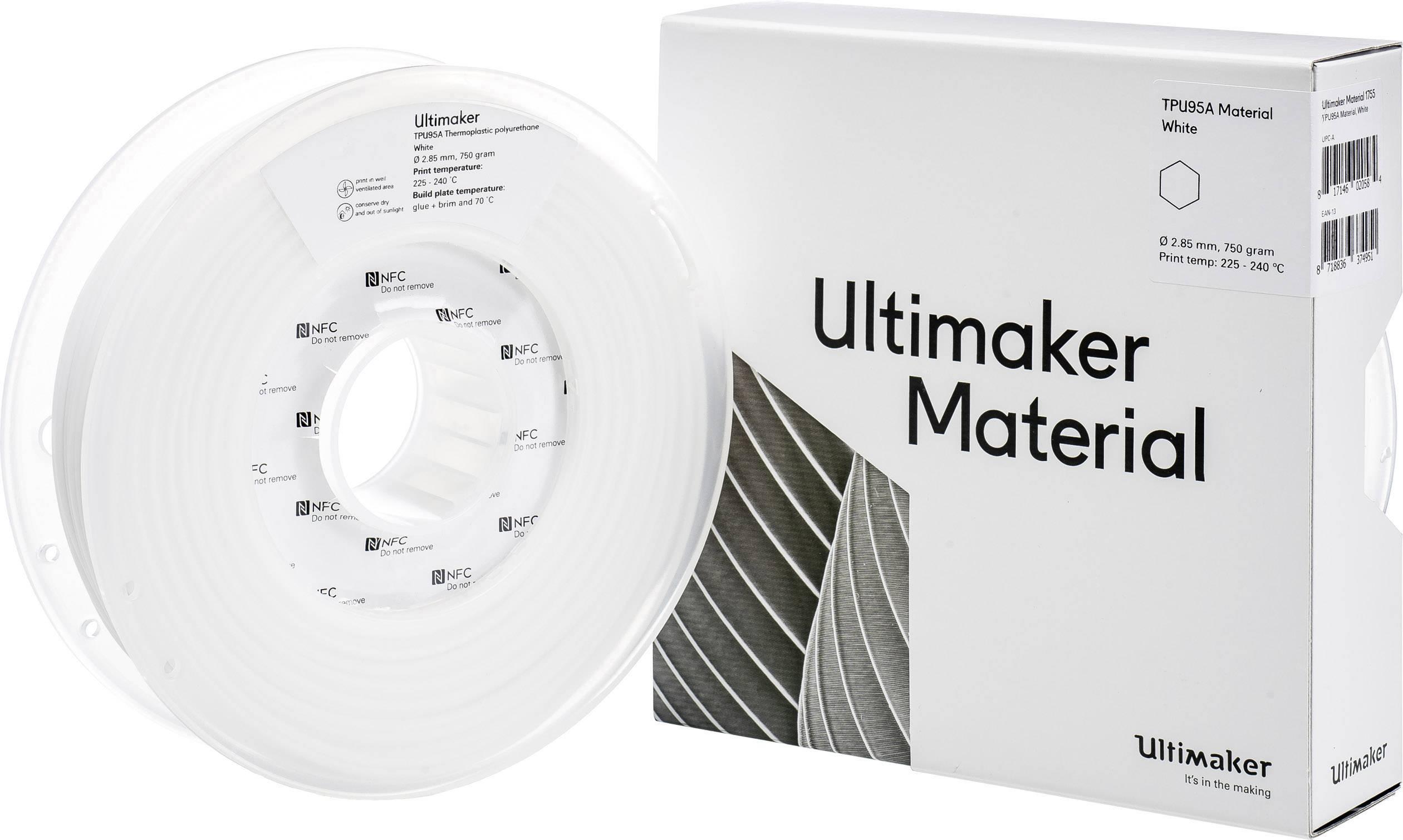Vlákno pro 3D tiskárny Ultimaker TPU - M0369 White 750 - 215194, 2.85 mm, 750 g, zelená