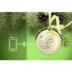 Bluetooth® reproduktor Technaxx Christmas Speaker zlatá