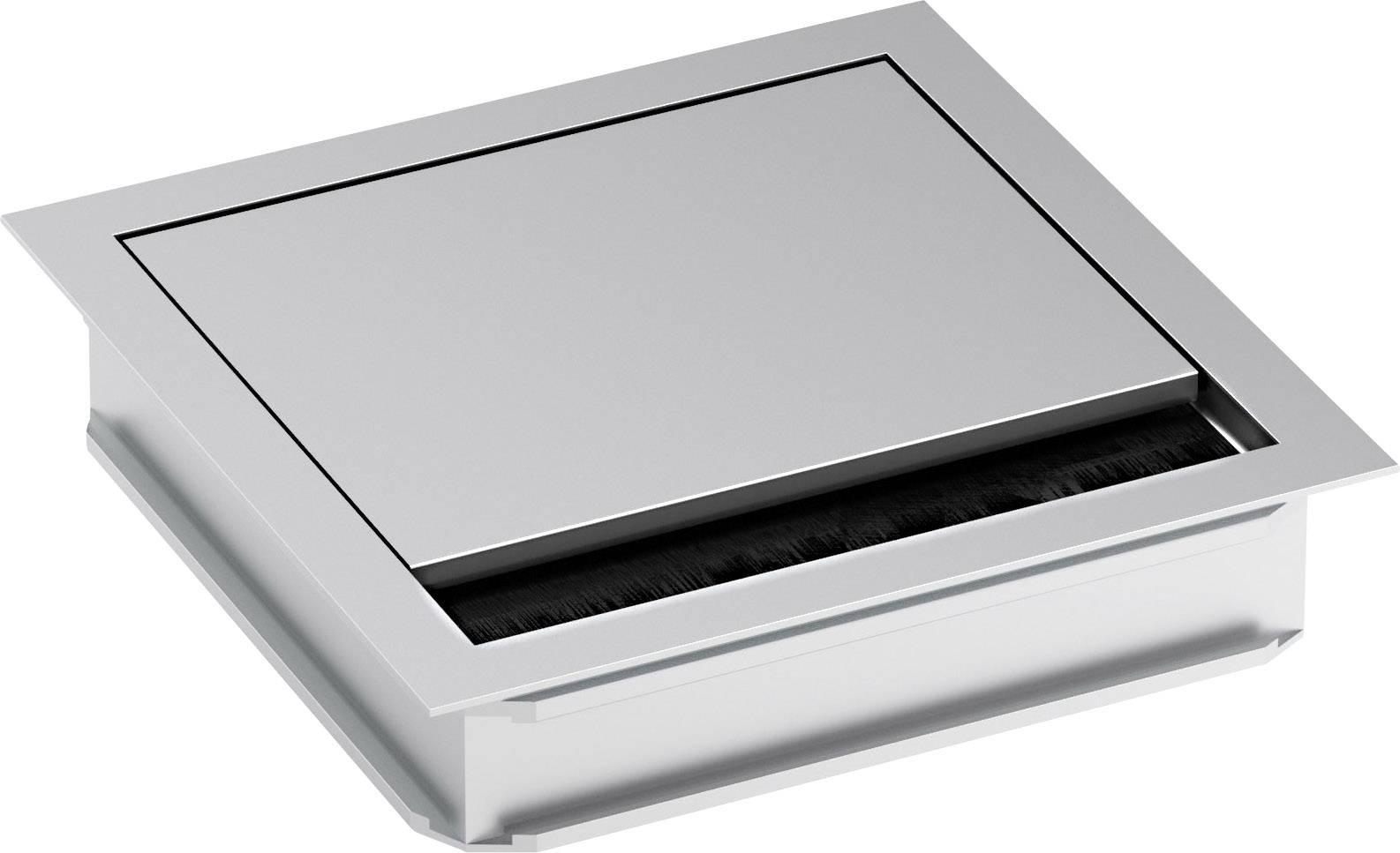 Kabelová průchodka čtvercová Bachmann 930.310, Ø 5 mm, hliník, stříbrná (matná, eloxovaná), 1 ks