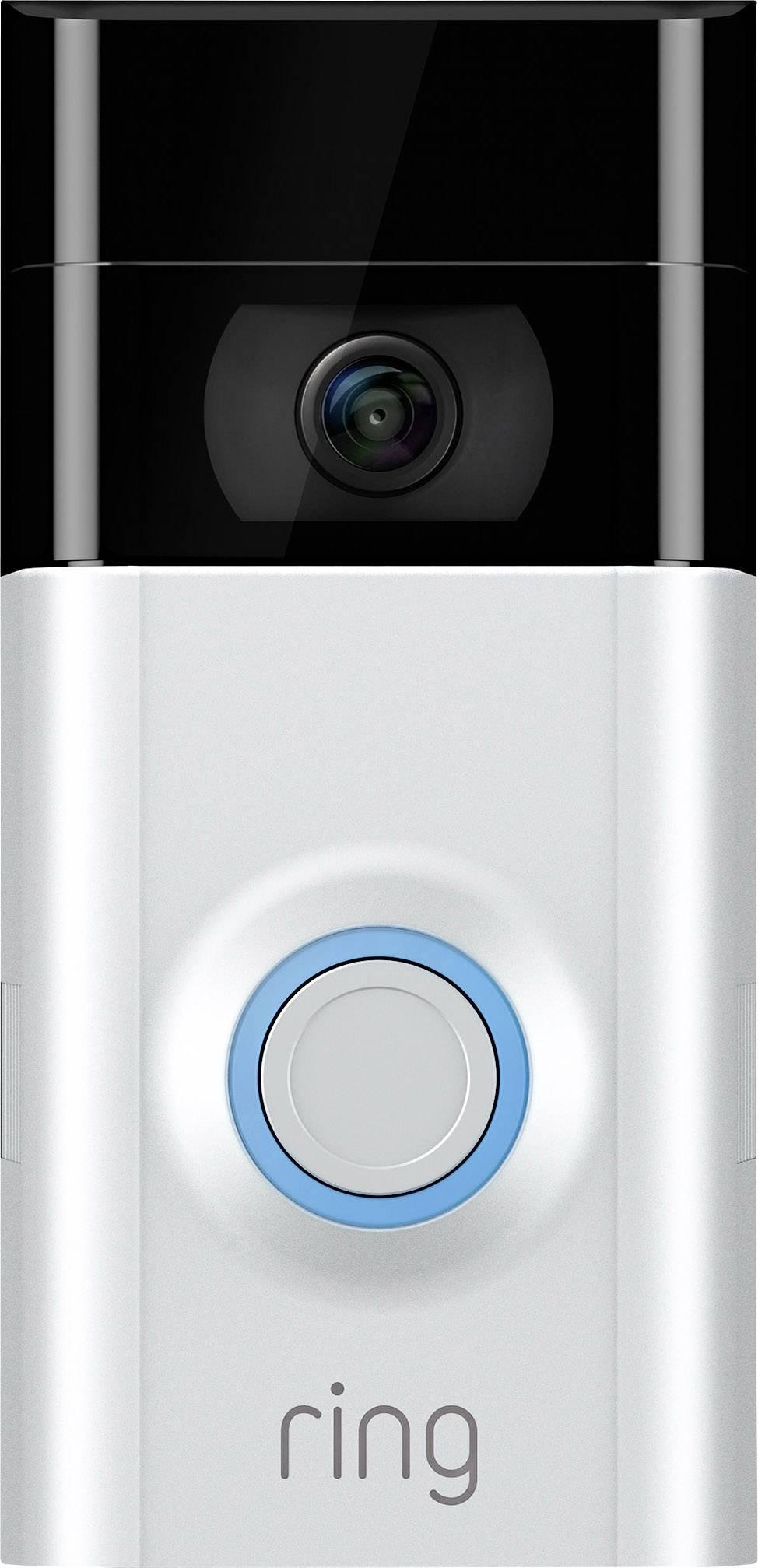 S Wi-Fi IP-video dverový telefón ring 8VR1S7-0EU0 4462222, saténovoniklová