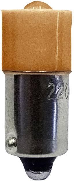 LED žárovka Barthelme 53120522, BA9s, 24 V/DC, 24 V/AC, 53120522, jantarová
