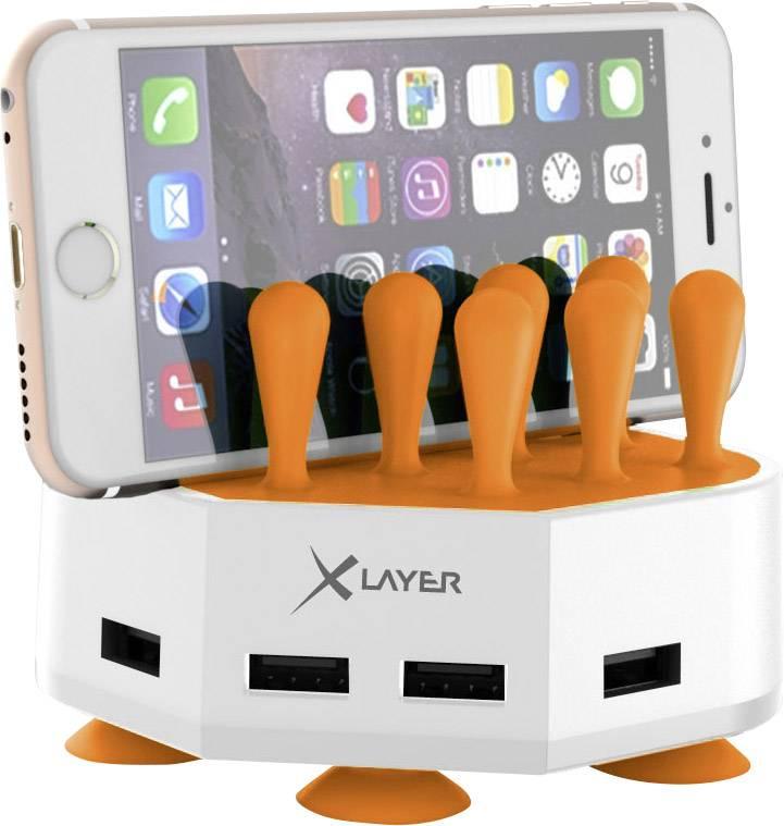 USB nabíjecí stanice Xlayer 212730, 6800 mA, bílooranžová