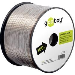 Kábel k reproduktoru Goobay 67718, 2 x 0.75 mm², priehľadná, 50 m