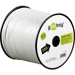 Reproduktorový kabel Goobay 15114, 2 x 1.50 mm², bílá, 10 m