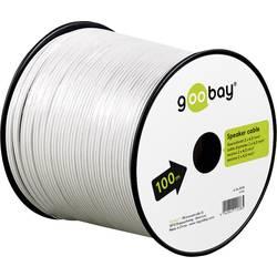 Reproduktorový kabel Goobay 15117, 2 x 2.50 mm², bílá, 10 m