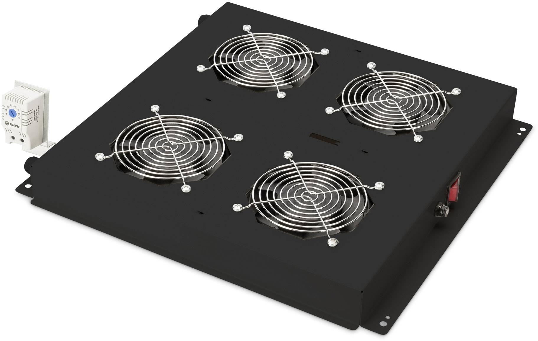 "Větrák pro datové skříně Digitus Professional DN-19 FAN-4-B-N, velikost racku (HE) 1 U, 19 """