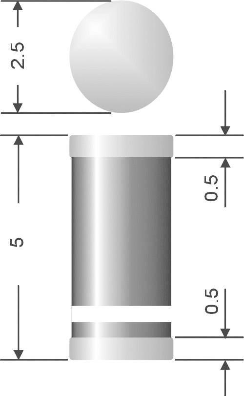 Kremíková usmerňovacia dióda Diotec SM4007 SM4007 DO-213AB, 1 A, 1000 V