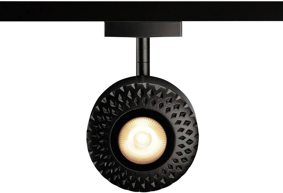 Pevně vestavěné LED svítidlo do vysokonapěťových lištových systémů (230 V) SLV Tothee, černá