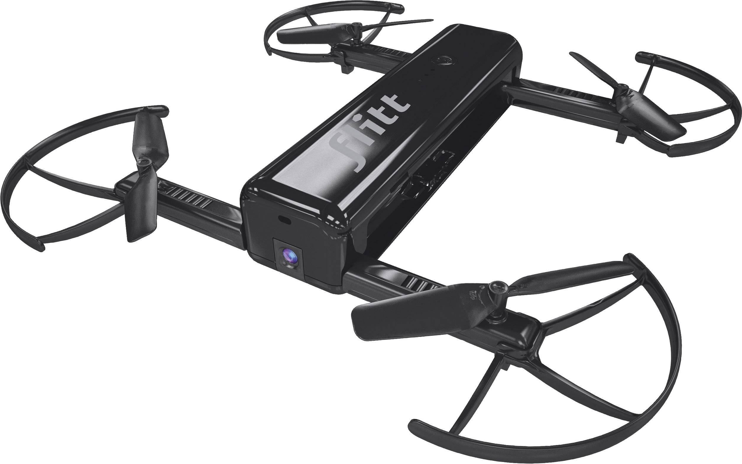 Kapesní selfie dron Revell Control Flitt black, s Wi-Fi, RtF