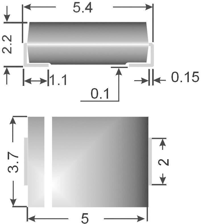 SMD zenerova dioda Semikron Z2SMB6.8, U(zen) 6,8 V