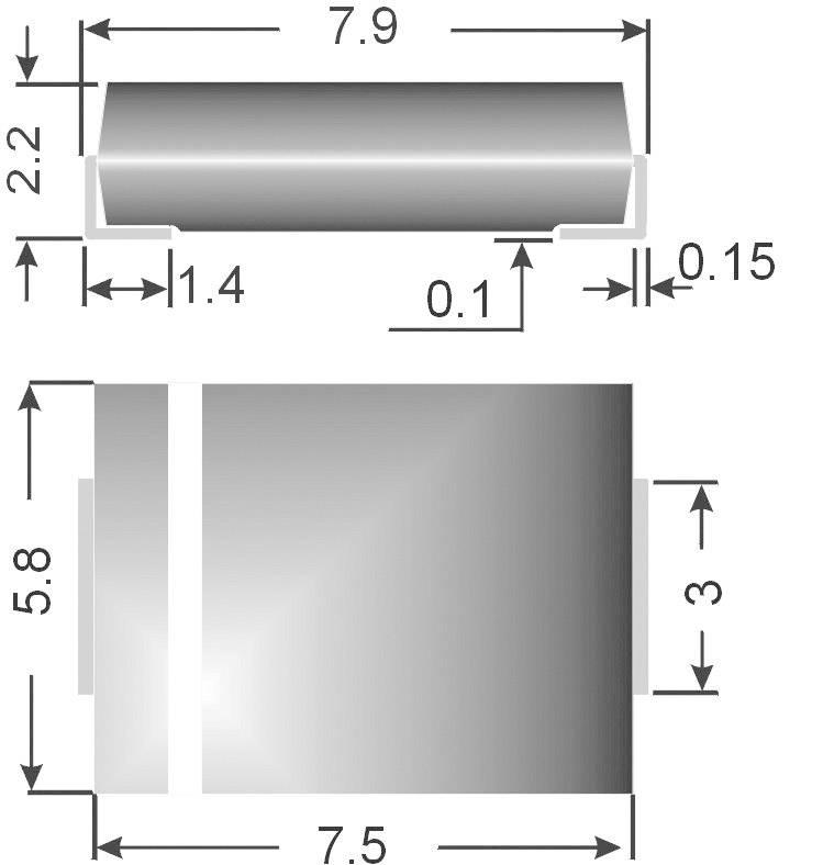 SMD zenerova dioda Semikron Z3SMC6.8, U(zen) 6,8 V