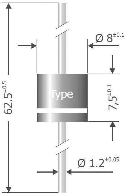 Kremíková usmerňovacia dióda Diotec P1000K P1000K P600, 10 A, 800 V