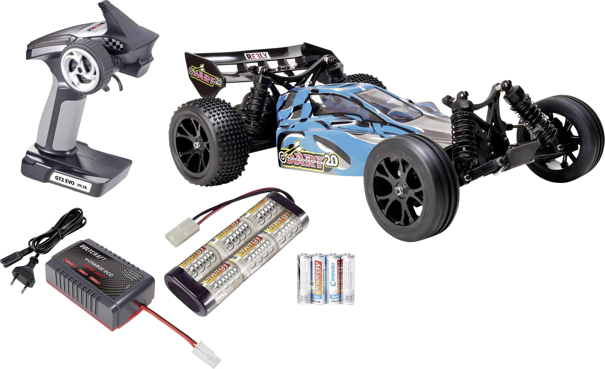 RC model auta Buggy Reely Dart 2.0, komutátorový, 1:10, zadní 2WD (4x2), 25 km/h