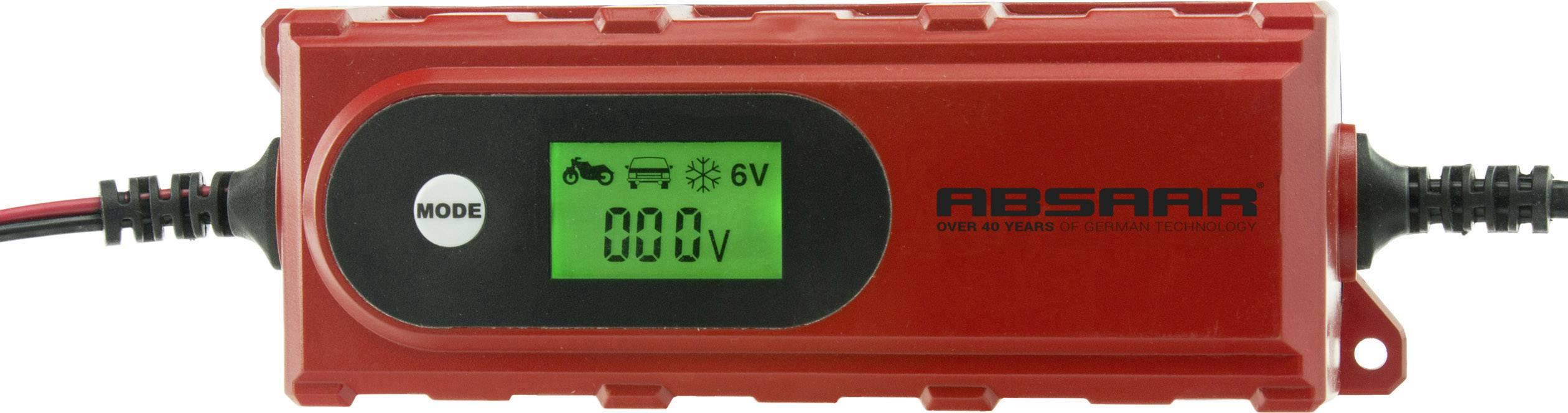 Nabíječka autobaterie Absaar 158005, 12 V, 6 V, 2 A, 4 A