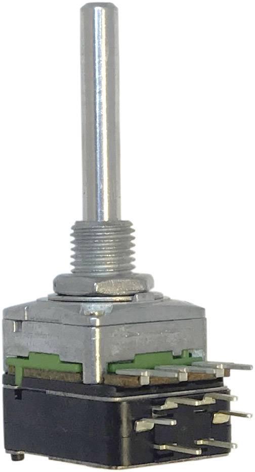 Otočný potenciometr 1cestný , s tlakovým spínačem Mono Potentiometer Service 63250-01402-5835/B10K RD1601SF-20B4-30R6-B10K, 0.2 W, 10 kOhm, 1 ks