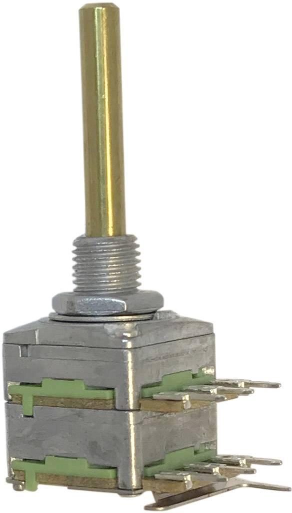 Otočný potenciometr 1cestný Stereo Potentiometer Service 63256-02400-4009/B250K RD1602F-20B4-30R6-B250K-602, 0.2 W, 250 kOhm, 1 ks