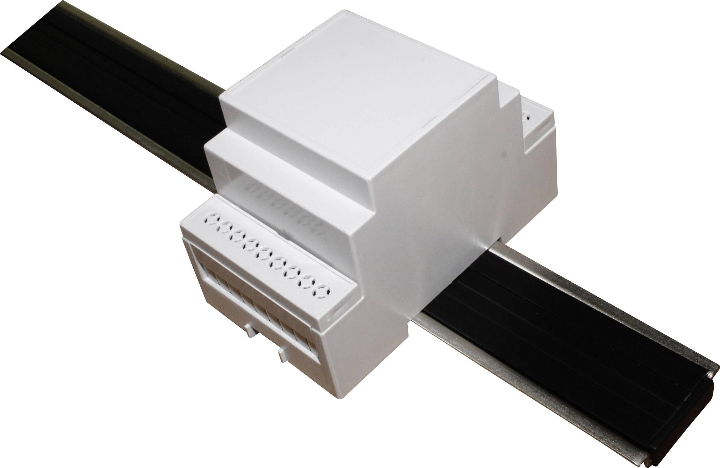 Pouzdro na DIN lištu Axxatronic CNMB/3/KIT/ACTIVE25-CON 58 x 53 x 90 , polykarbonát, šedá, 1 ks