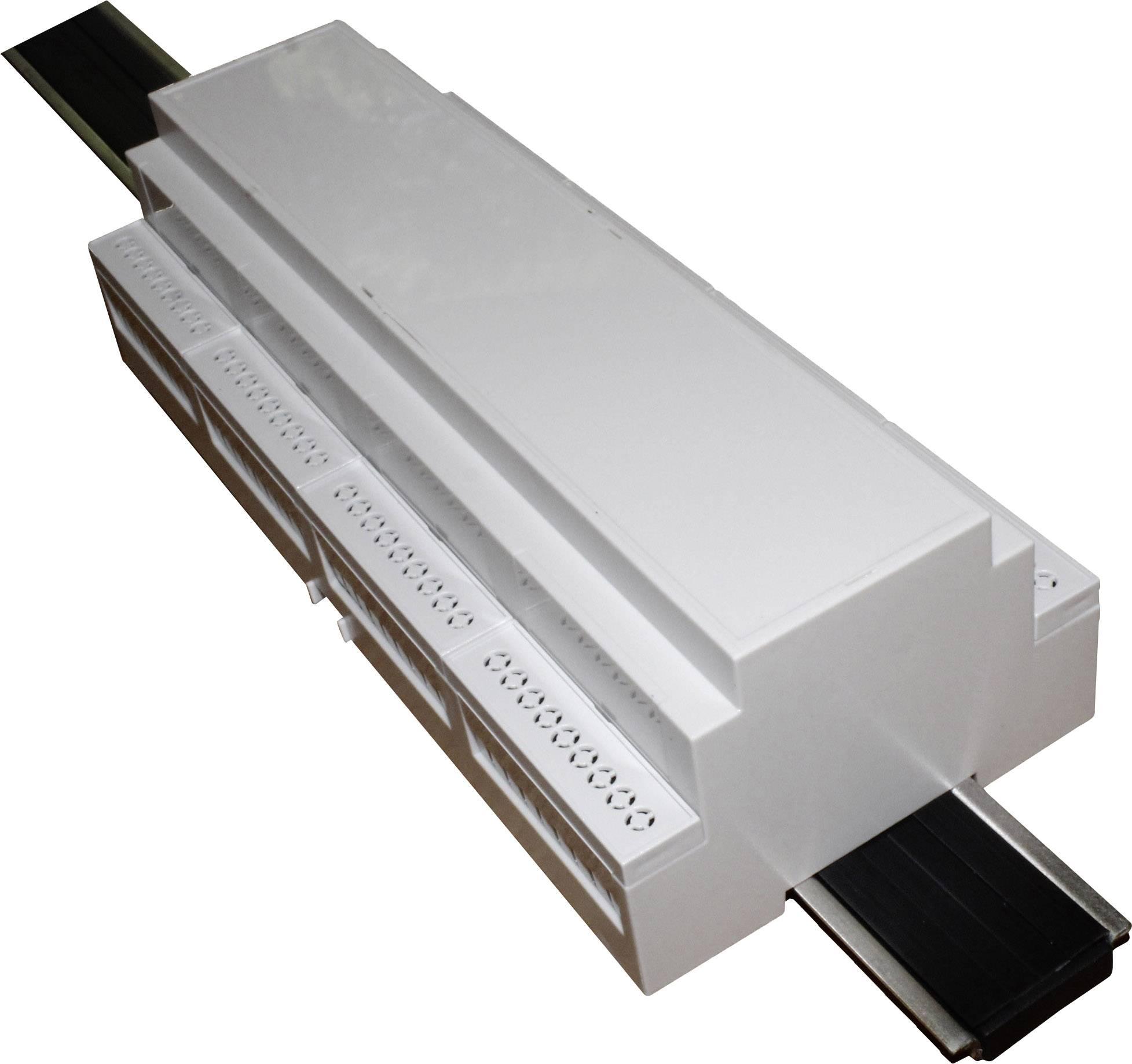Pouzdro na DIN lištu Axxatronic CNMB/12/KIT/ACTIVE25-CON pro montáž na DIN lištu , 58 x 212 x 90 , polykarbonát, šedá, 1 ks