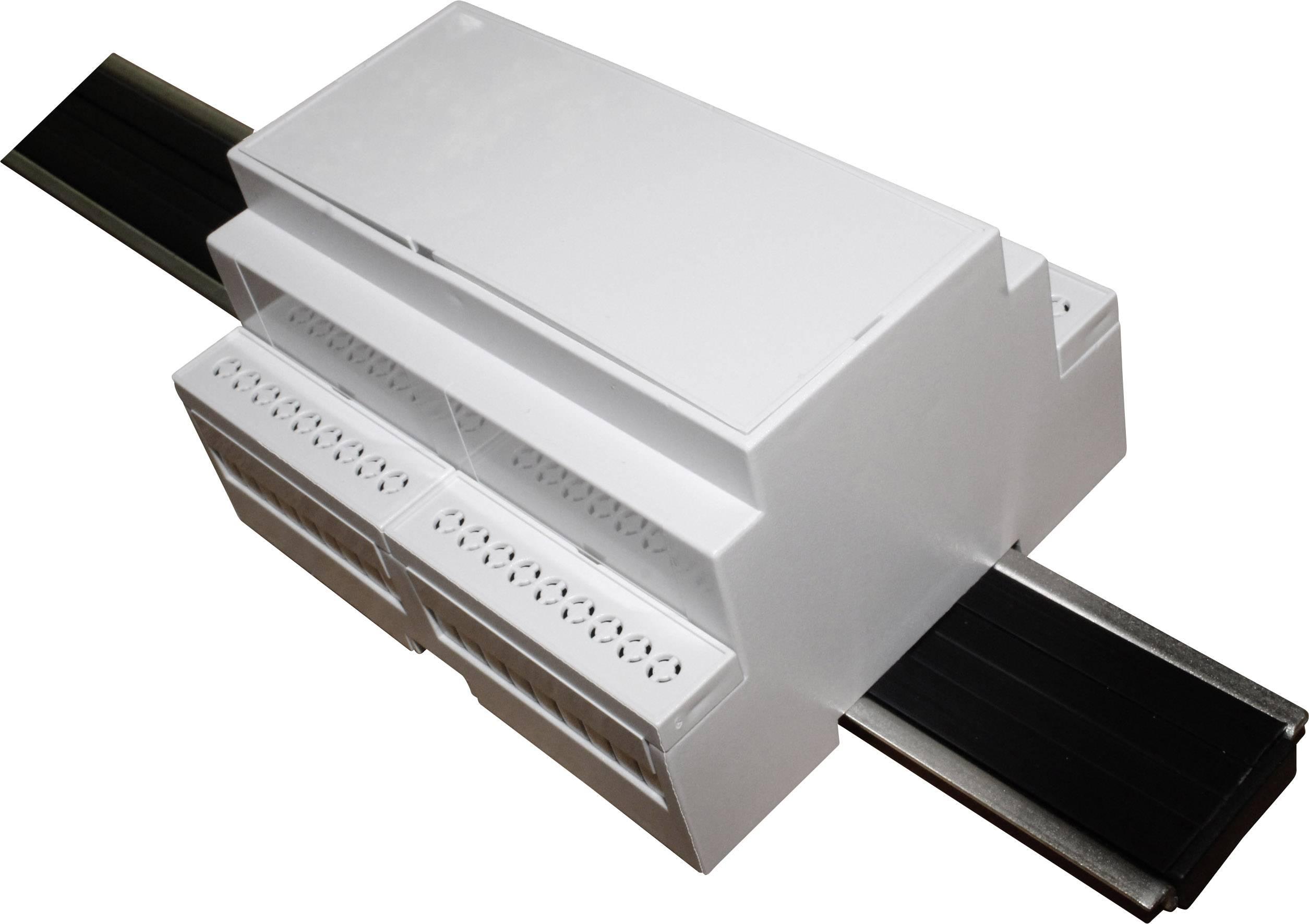 Pouzdro na DIN lištu Axxatronic CNMB/6/KIT/ACTIVE25-CON pro montáž na DIN lištu , 58 x 106 x 90 , polykarbonát, šedá, 1 ks