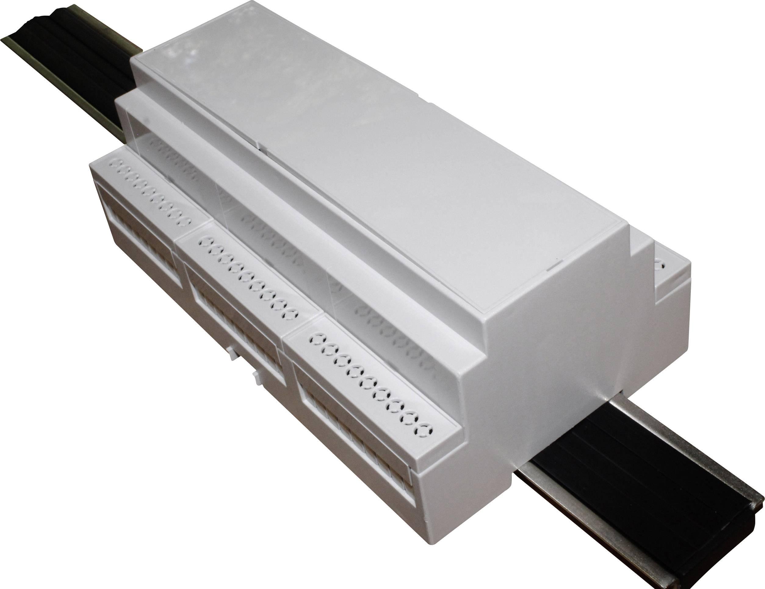 Pouzdro na DIN lištu Axxatronic CNMB/9/KIT/ACTIVE25-CON 58 x 159 x 90 , polykarbonát, šedá, 1 ks