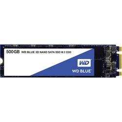 Interní SSD disk SATA M.2 2280 500 GB WD Blue™ Retail WDS500G2B0B M.2 SATA 6 Gb/s