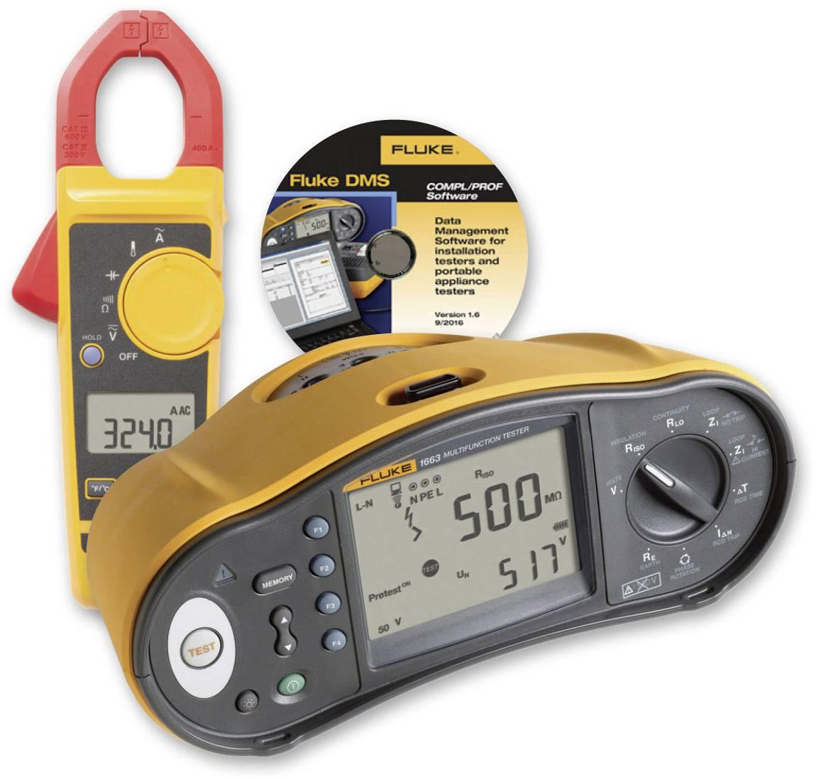 Tester instalací FVF-SC2Fluke 1663 SCH-CLAMP/F s proudovými kleštěmi Fluke 324 a softwarem FVF-SC2