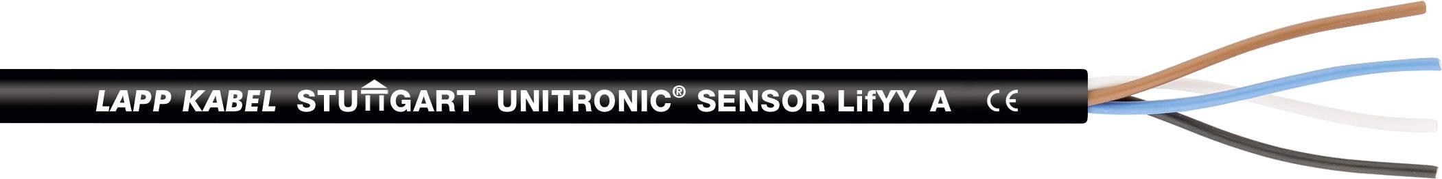 Senzorový kabel LAPP UNITRONIC® SENSOR LifYY A 7038905/1000, 3 x 0.34 mm², černá, 1000 m