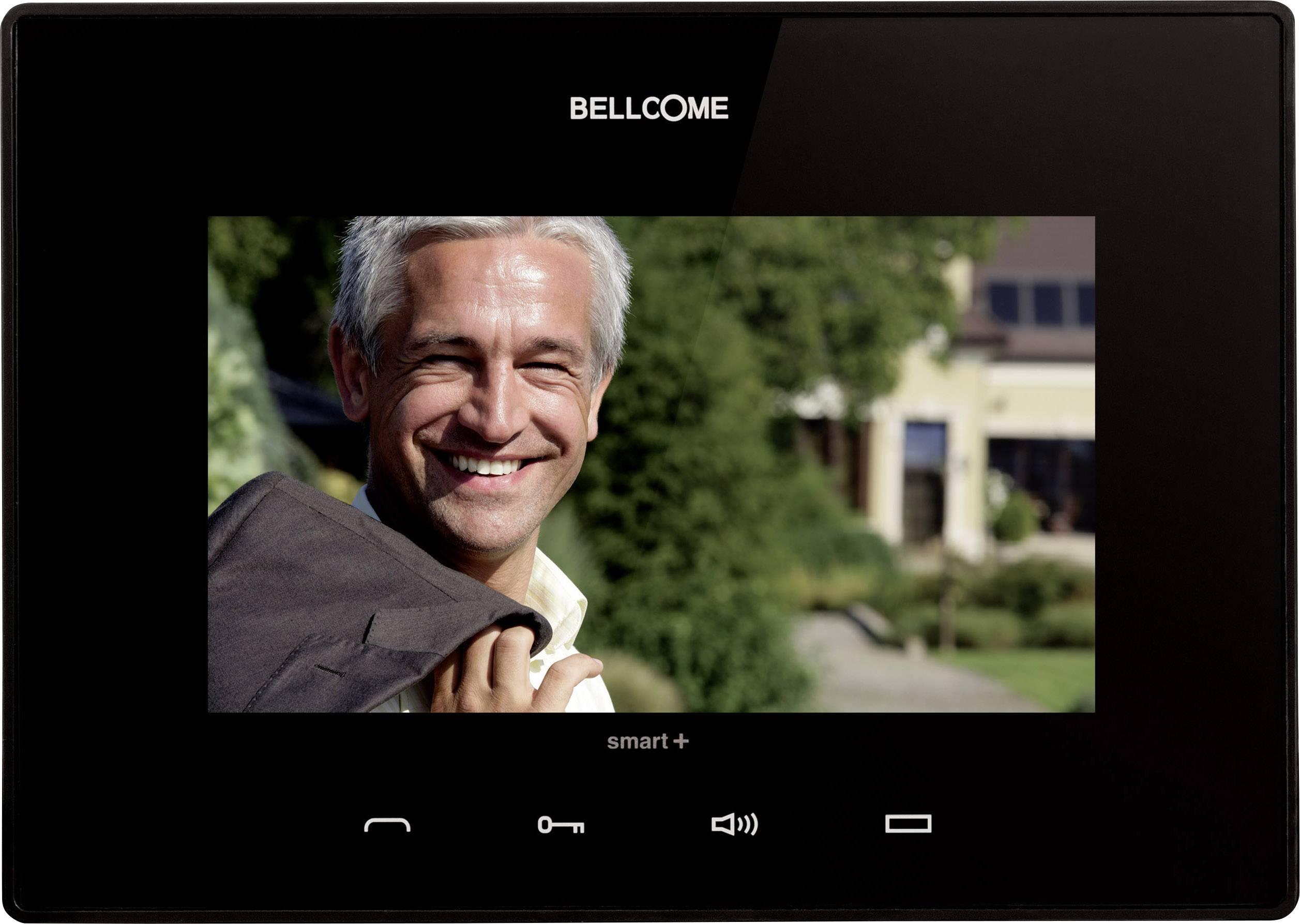Káblový video dverový telefón - vnútorná jednotka Bellcome VTM.7S402.BLB04, čierna