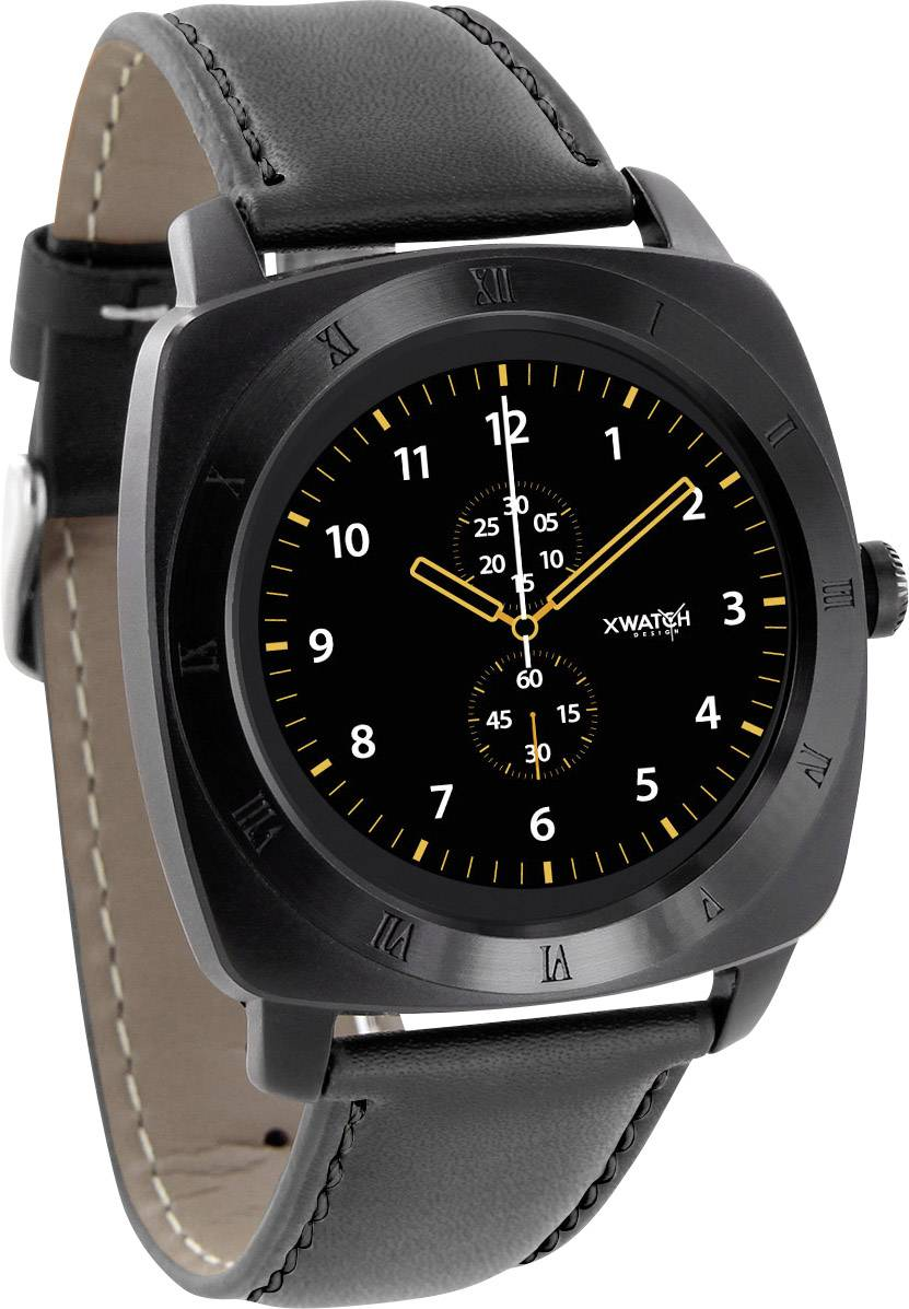Smart hodinky Xlyne Nara XW Pro BC, čierna, chróm