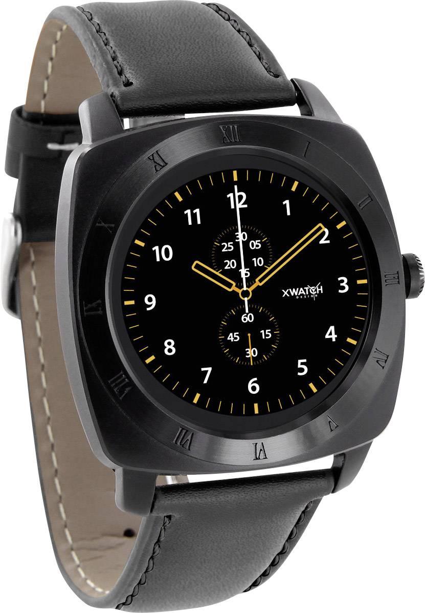 Smartwatch inteligentné hodinky Xlyne Nara XW Pro BC, čierna, chróm