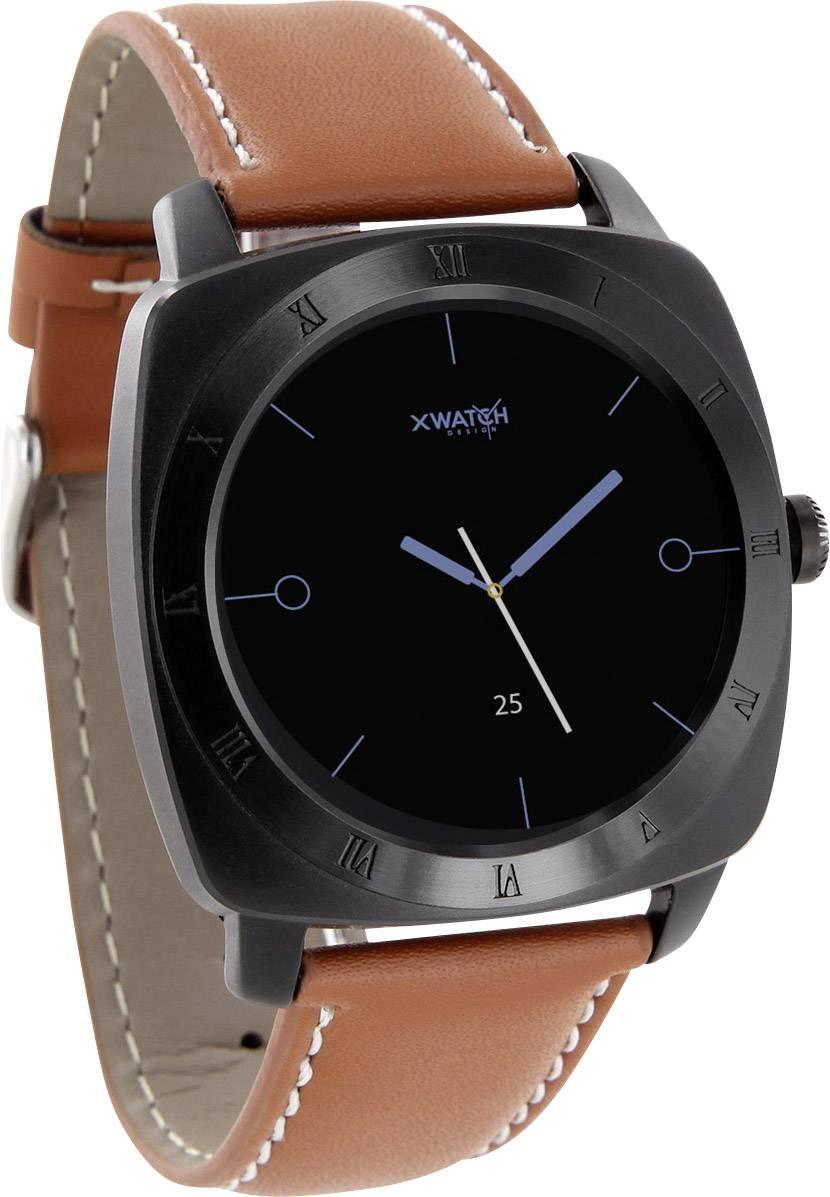 Chytré hodinky X-WATCH Nara XW Pro CL, koňaková, černá